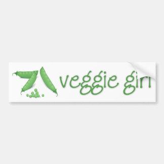 Veggie Sticker van de Bumper van het Meisje