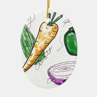 Veggies Keramisch Ovaal Ornament