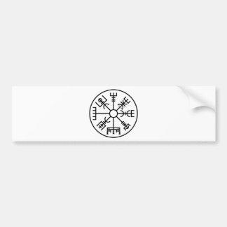 vegvisir Norse van het Symbool van Viking Schild Bumpersticker