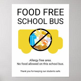 Veilige Gebied van de Allergie van de Bus van de Poster