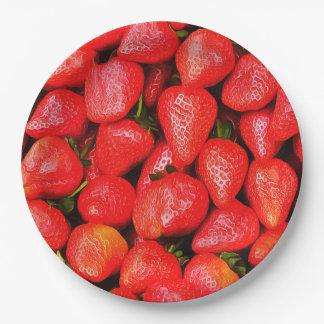 Vele Aardbeien! Papieren Bordje