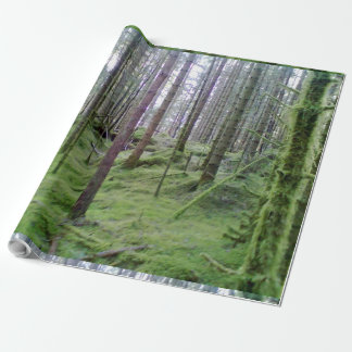 Vele bomen in het bos inpakpapier