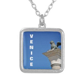 Venetiaanse leeuw zilver vergulden ketting