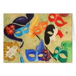 Venetiaanse Maskers Briefkaarten 0