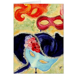 Venetiaanse Maskers - Wenskaart