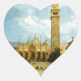 Venetië 1720 hart sticker