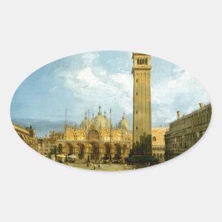 Venetië 1720 ovale sticker