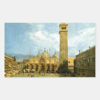 Venetië 1720 rechthoekige sticker