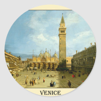 Venetië 1720 ronde sticker