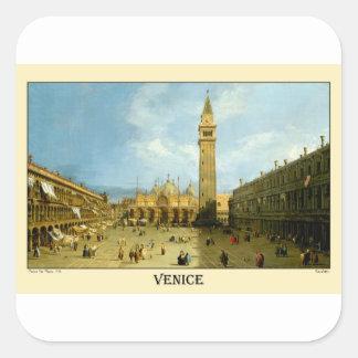 Venetië 1720 vierkante sticker
