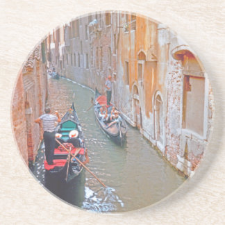 Venetië - Gondelier Zandsteen Onderzetter