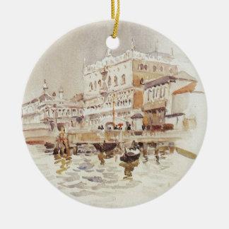 Venetië. Het Paleis van de doge. door Vasily Rond Keramisch Ornament