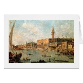 Venetië: Het paleis van de Doge en Molo van de Wenskaart