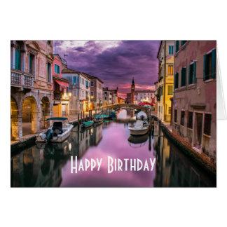 Venetië, het Schilderachtig Kanaal van Italië & Briefkaarten 0