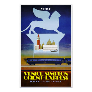 Venetië, oriënteert Uitdrukkelijk reisposter Poster