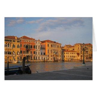 Venetië - Palazzos op het Grote Kanaal Wenskaart