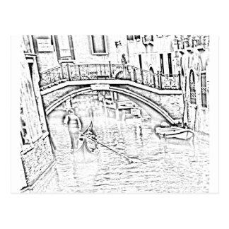 Venetië-taxi Briefkaart