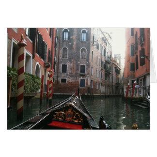 Venetië via Gondel Wenskaart