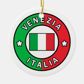 Venezia Italië Rond Keramisch Ornament
