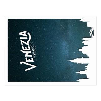 Venezia 's nachts - briefkaart