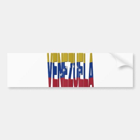 Venezuela flag bumpersticker