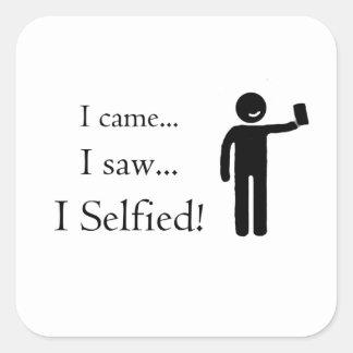 Veni Vidi Selfie Vierkante Sticker