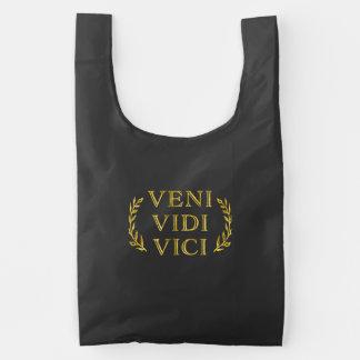 Veni Vidi Vici de Grappige Winnaar van het Spel Herbruikbare Tas