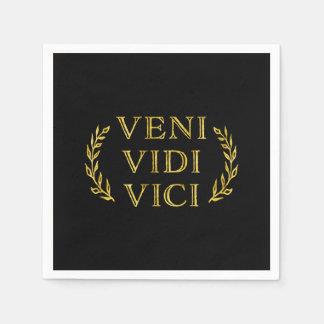 Veni Vidi Vici de Grappige Winnaar van het Spel Papieren Servet