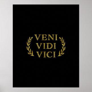 Veni Vidi Vici de Grappige Winnaar van het Spel Poster