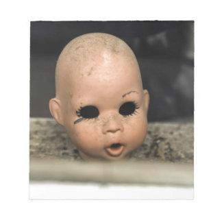 Venster van Vintage Doll van het Baby van de Notitieblokken