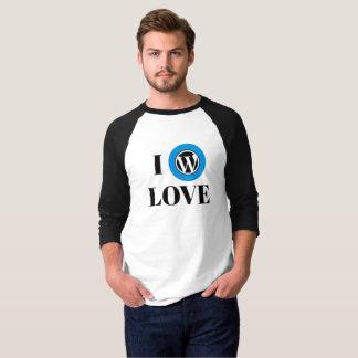 Ventilator 3/4 van WordPress Raglan van het Sleeve T Shirt