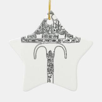 Ventilator van Overzicht Tutenkhamun Keramisch Ster Ornament