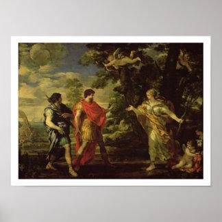 Venus dat aan Aeneas als Jaagster verschijnen, c.1 Poster
