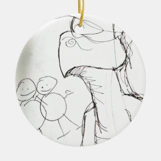 Ver voorbij Gedreven Rond Keramisch Ornament