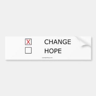 Verandering en Geen Hoop Bumpersticker