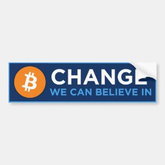 Verandering kunnen wij geloven in bumpersticker
