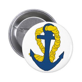 Verankert weg ronde button 5,7 cm