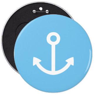 Verankert weg! ronde button 6,0 cm