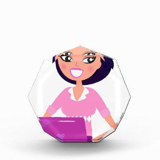 Verbazend modieuze Dame met paarse Computer Acryl Prijs