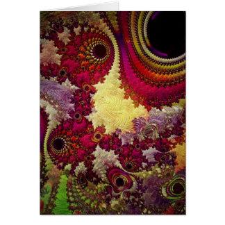 verbazende Abstracte fractal meetkunde Wenskaart