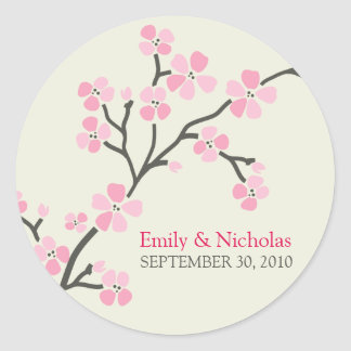 Verbinding 2 van de Uitnodiging van het Huwelijk Ronde Sticker