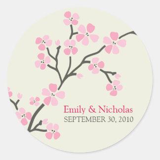 Verbinding 2 van de Uitnodiging van het Huwelijk Ronde Stickers