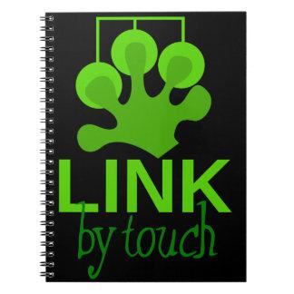 verbinding door aanraking notitieboek