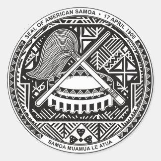 Verbinding van Amerikaans Samoa Ronde Sticker