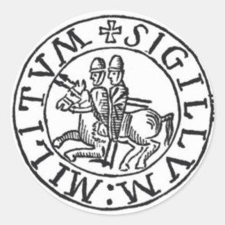Verbinding van de Ridders Templar Ronde Sticker