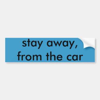 verblijf weg, van de auto, bumpersticker