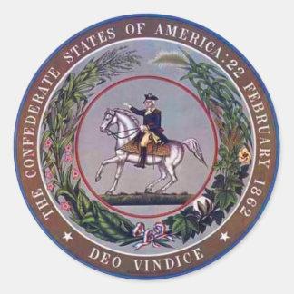 Verbonden Staten van de Verbinding van Amerika Ronde Sticker