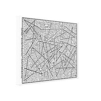Verbrijzeld - een Verbazend Labyrint door Blaise! Canvas Afdrukken