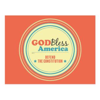 Verdedig de Grondwet Briefkaart