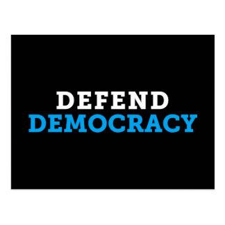 Verdedig het Zwarte Briefkaart van de Democratie